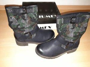Jumex Stiefeletten schwarz mit Steinchenverzierung Gr.36