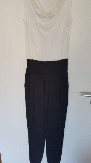 Bodyflirt Jumpsuit wit-zwart