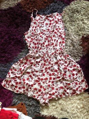 H&M Divided Onesie white-brick red