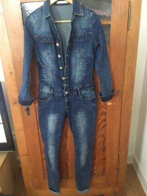 Jumpsuit aus Jeans, Nina Carter, Gr. 36