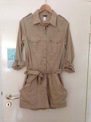 Jumpsuit beige / sandbraun, Gr. 40 (42 / L / XL), H&M, Safari / Military