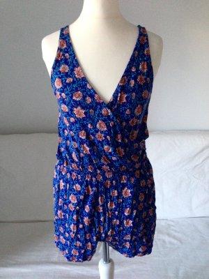 Jumpsuit blau Blumen Gr. XS-S neu blogger weich ausverkauft
