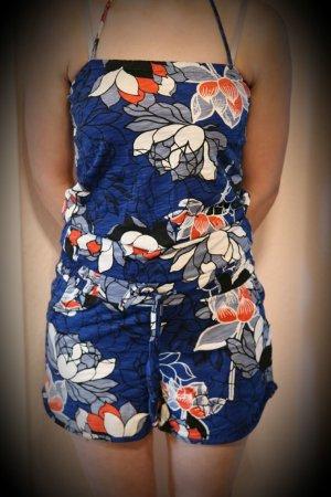 Jumpsuit Blau mit Blumenmuster