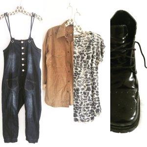 jumpsuit / blue jeans / denim / one piece / vintage / boho / hippie / edgy
