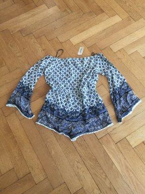 Jumpsuit, cream/blue, EU L