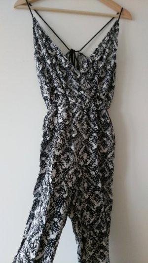 H&M Tuta nero-bianco