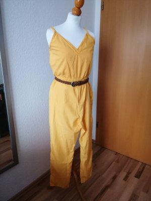 Jumpsuit gelb Overall sonnengelb Sommerkleid