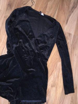 Jumpsuit glitzer schwarz