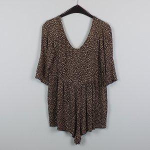 Jumpsuit black brown-sand brown