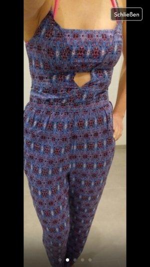 Jumpsuit Hollister blau Rose xs 34 Sommer top Kleid Oberteil Fashion Blogger