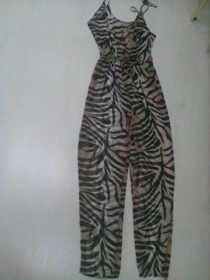 Jumpsuit im Tiger/Zebralook