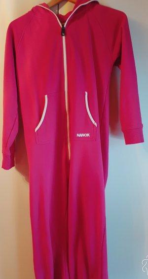 Jumpsuit in Pink mit Kapuze