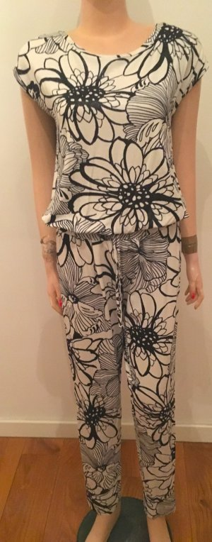 Maxima Fashion Combinaison noir-blanc tissu mixte