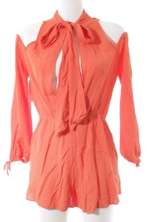 Tuta arancio neon stile da moda di strada