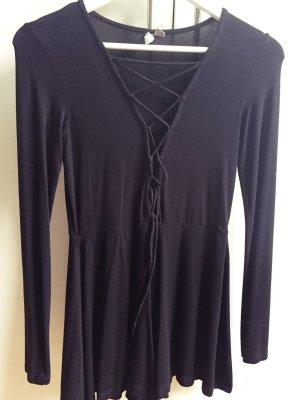 Jumpsuit, Overall, Asos, geschnürt, Lace up, schwarz, Party, V-Ausschnitt