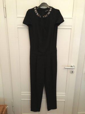 Jumpsuit Overall schwarz Esprit Verzierung am Kragen