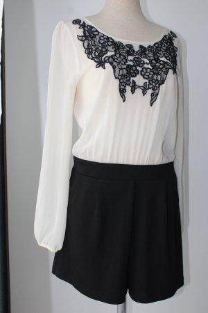 Lipsy Jumpsuit zwart-licht beige
