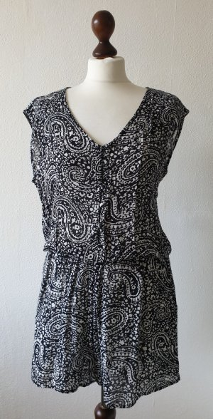 Yessica Jumpsuit black-white cotton