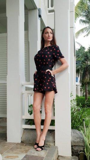 Jumpsuit playsuit Overall Romper Erdbeeren strawberry Ibiza boho hippie sommer blogger