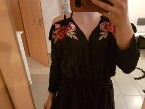 Jumpsuit schwarz Blumen