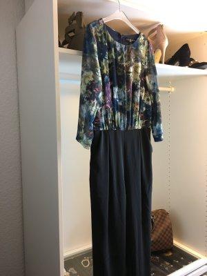 Jumpsuit schwarz floral - Little Mistress Overall