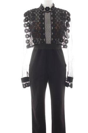 Jumpsuit black floral pattern elegant