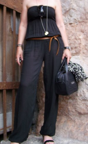Jumpsuit schwarz, Gr. S, Made in Italy