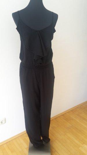 Jumpsuit schwarz Gr. S mit Volants