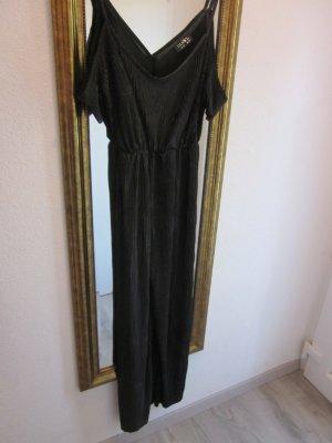 Jumpsuit schwarz mit Cut Outs Gr 44 Plissee