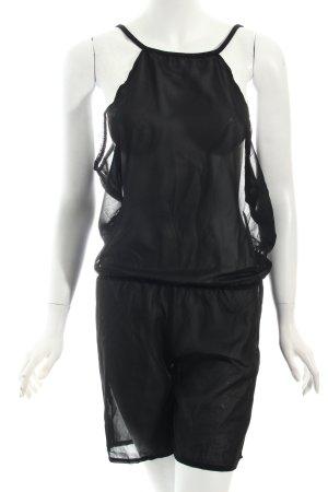 Jumpsuit schwarz schlichter Stil