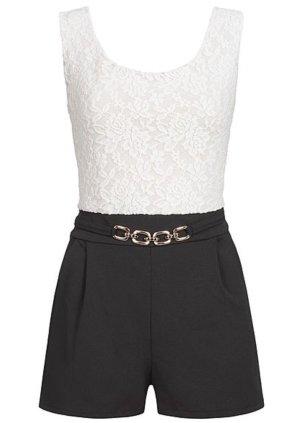 Zara Jumpsuit wit-zwart