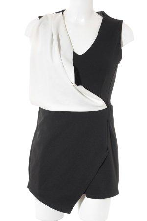 Jumpsuit schwarz-weiß Elegant