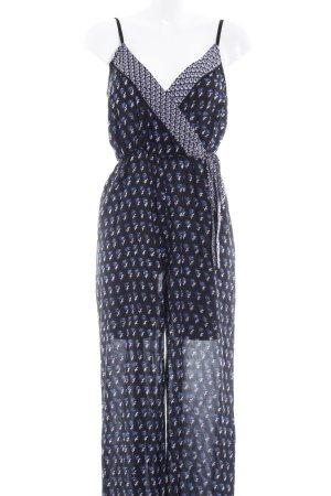 Jumpsuit schwarz-wollweiß abstraktes Muster Street-Fashion-Look