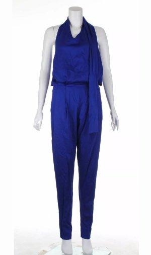 Mulberry Jumpsuit blue silk