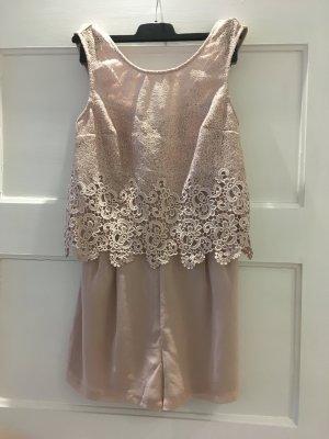 Jumpsuit Spitze Kardashian Kollektion for Lipsy rosa nude puder 36 S