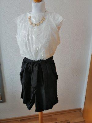 Jumpsuit Spitze schwarz weiß Bindegürtel Blogger Style Overall