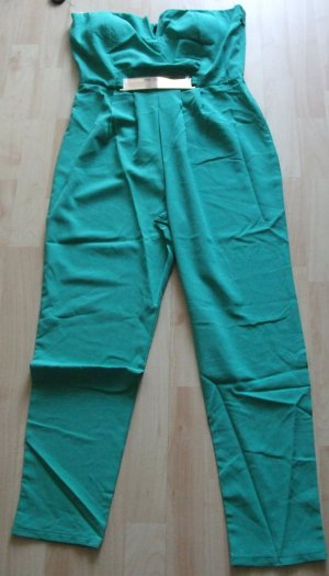 Combinaison turquoise polyester