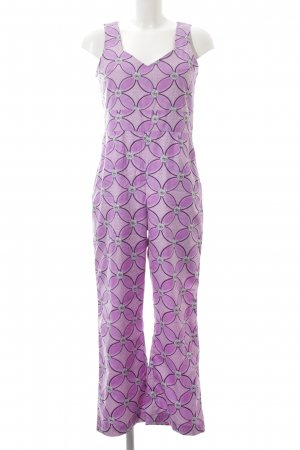 Jumpsuit violett-hellrosa florales Muster Casual-Look