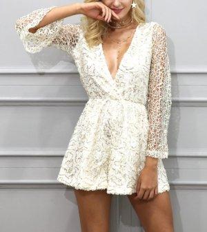 Zara Combinaison blanc-doré