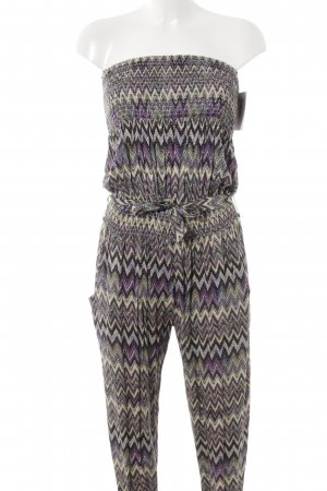 Jumpsuit Zackenmuster Casual-Look