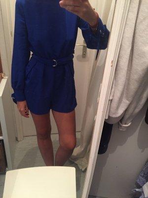 Jumpsuit Zara blau mit Gürtel
