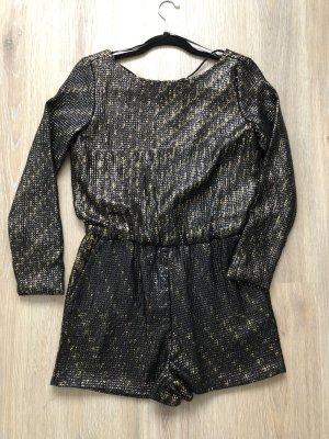 Zara Basic Tuta nero-oro