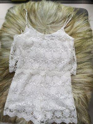 Jumpsuits aus weißer Spitze von Zara