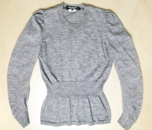 Comme des Garçons Long Sweater light grey-grey wool