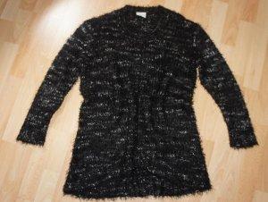 Junarose Kuscheliger Long Pullover schwarz meliert  - Gr. 38 / M Neu!