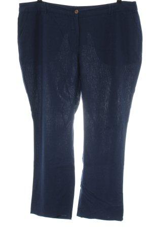 Junarose Pantalón de lino azul estilo «business»