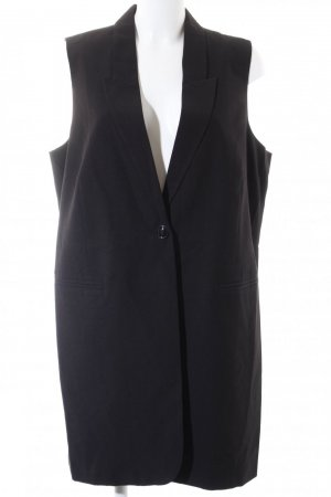 Junarose Long Knitted Vest black casual look