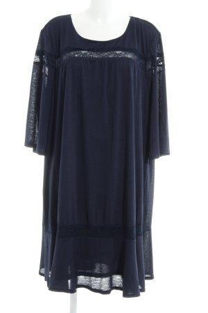 Junarose T-shirt jurk donkerblauw casual uitstraling