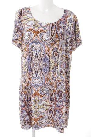 Junarose T-shirt jurk paisley patroon casual uitstraling