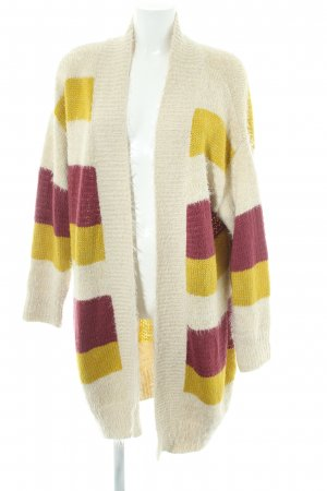 Junarose Knitted Coat striped pattern casual look